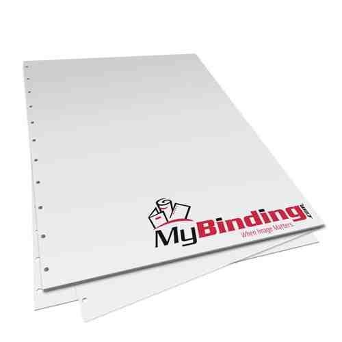 "8.5"" x 11"" 28lb Velobind 11 Hole Pre-Punched Binding Paper - 250 Sheets (MY8.5X11V11HPBP28RM) Image 1"