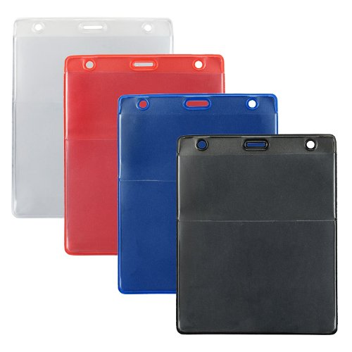 Vertical Event Vinyl Credential Wallet with Slot and Chain Holes - 100pk (BVEVCWSCH) Image 1