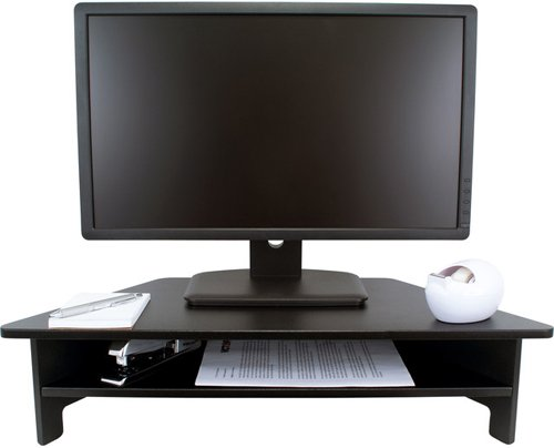 Victor Technology High Rise Monitor Stand with Open Shelf (DC050) Image 1