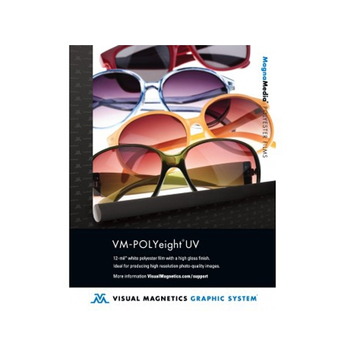 "Drytac Visual Magnetics POLYeight UV 12mil 60"" x 100' Gloss Magnetic Receptive Print Media (VMP8UV-60100) - $1025.56 Image 1"