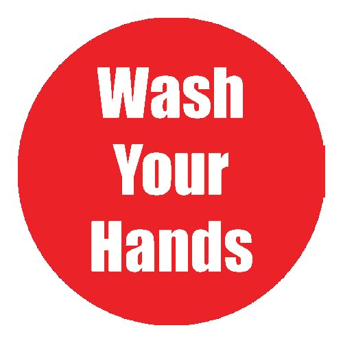 "Flipside ""Wash Your Hands"" Red 11"" Round Non-Slip Floor Stickers - 5pk (FS-97096) - $50 Image 1"