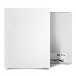 "White 8.5"" x 11"" 15pt Vinyl Binding Covers - 100pk (MYVBC85X1125WH), Covers Image 1"