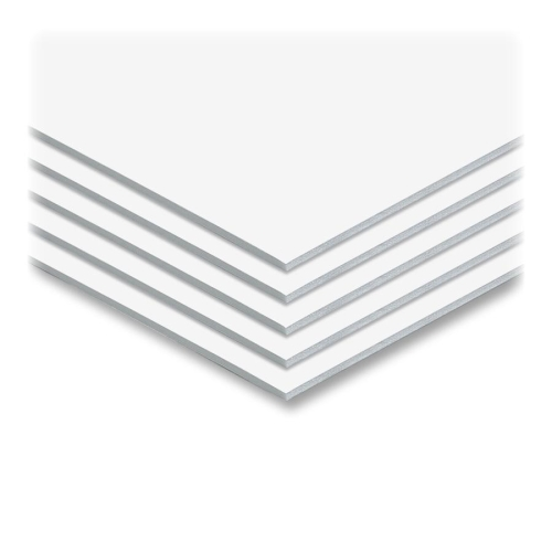 "White 1/2"" Foam Core Permanent Adhesive 48"" x 96"" Mounting Boards - 12pk (AG-550423), MyBinding brand Image 1"