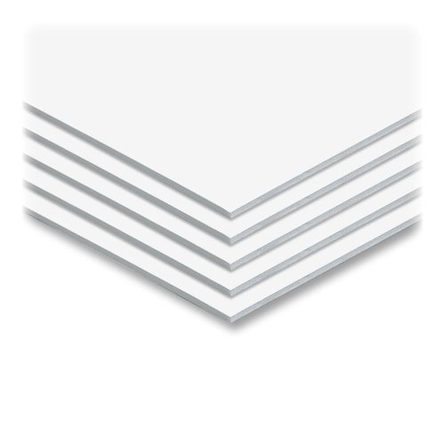 "White 3/16"" Foam Core 24"" x 36"" Mounting Boards - 25pk (550432)"
