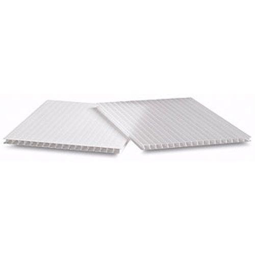 "White 4mm Corrugated Plastic 24"" x 36"" Adhesive Boards 10pk (CWSA2436) Image 1"