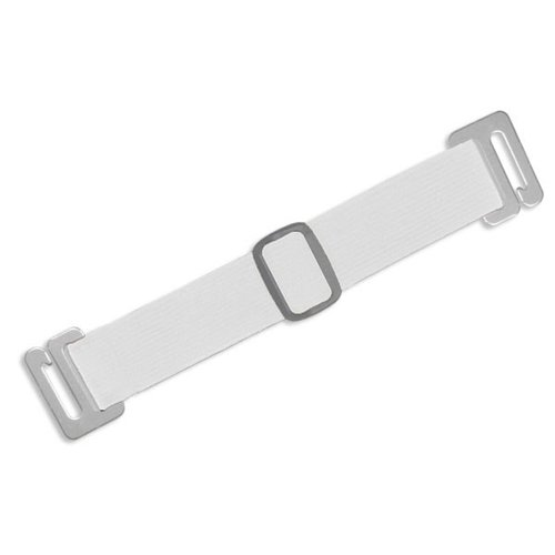 White Adjustable Elastic Arm Band Straps - 100pk (1840-7208) Image 1