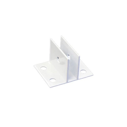 "Sooper 3/4"" White Aluminum ""Center"" Bracket for Mounting Solid Substrate - 1pk (MYBCBA9075) - $4.86 Image 1"