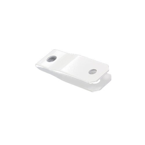 "Sooper 1/2"" White Aluminum Sign Hanging Bracket for Mounting Solid Substrate - 100pk (MYBSHA1050B) Image 1"