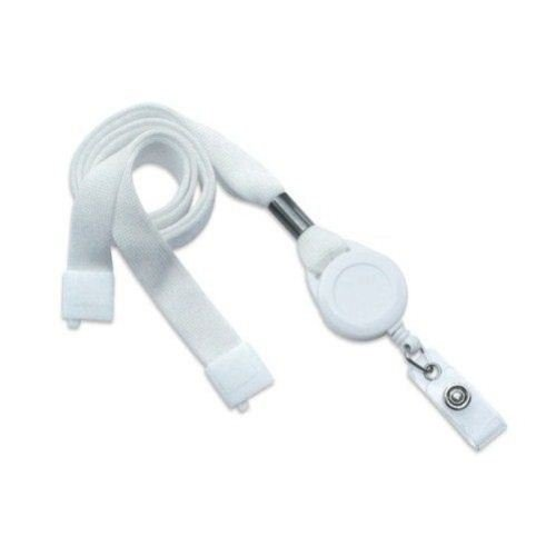 White Break-Away Lanyard Badge Reel Combo - 100pk (MYID21387008) Image 1