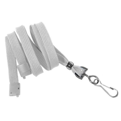 "White Breakaway Lanyard with Swivel Hook - 3/8"" - 100pk (MYIDBL34SWHT) - $44.01 Image 1"