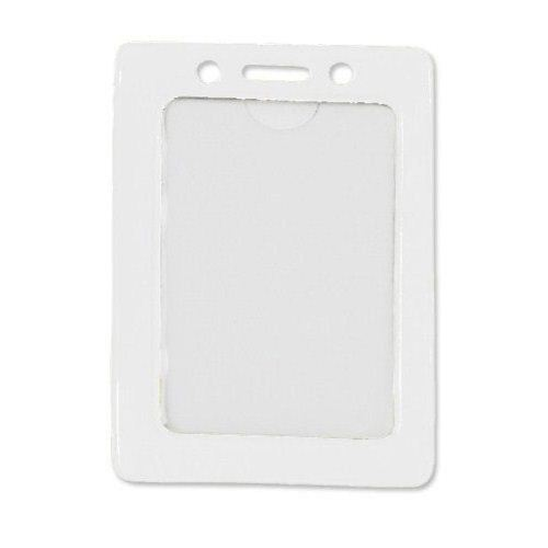 White Credit Card Size Vertical Colored Frame Badge Holders - 100pk (1820-3008), MyBinding brand Image 1