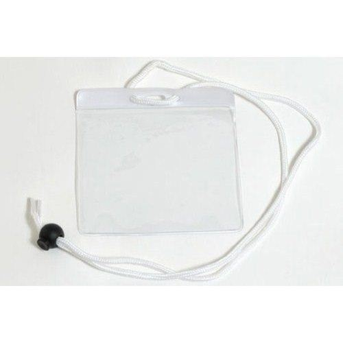 White Extra Large Color Bar Badge Holders with Neck Cords - 100pk (1860-2908) Image 1