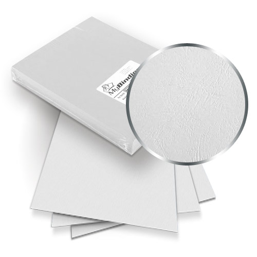 White Grain 9 x 11 Index Allowance Binding Covers - 100pk (MYGR9X11WH) Image 1