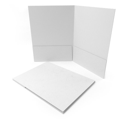 White Grain Customizable Letter Size Pocket Folders - 250pk (MYGCPFLRWH) Image 1