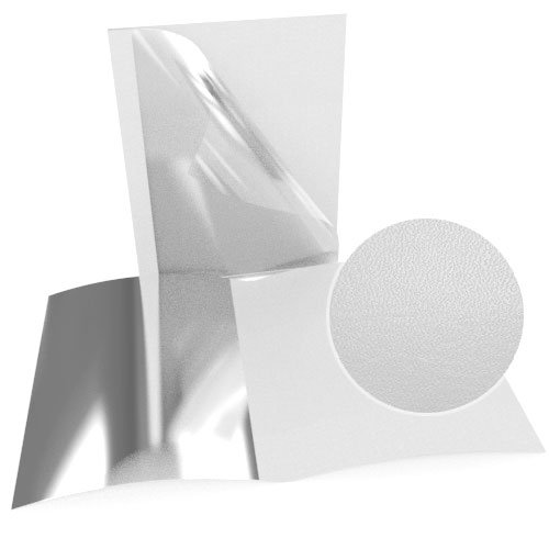"1"" White Leatherette Regency Clear Front Thermal Covers - 100pk (SO800T100WHC) Image 1"