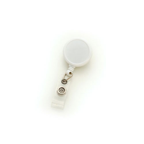 White Max Label Round Badge Reel with Swivel Clip - 25pk (MYID909IWHT)