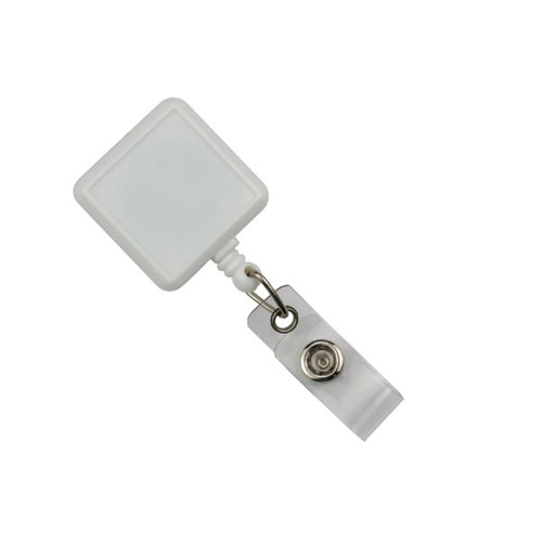 White Square Badge Reel Image 1