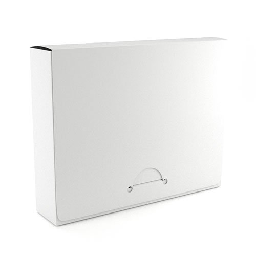 "1.5"" Letter White Poly Document Boxes (MYPDB150WH), Binding Covers Image 1"