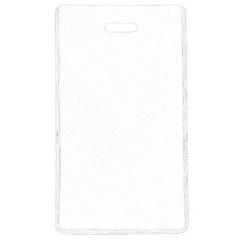 White Semi-Rigid Vinyl Luggage Tag Holders - 100pk (1845-2008) Image 1