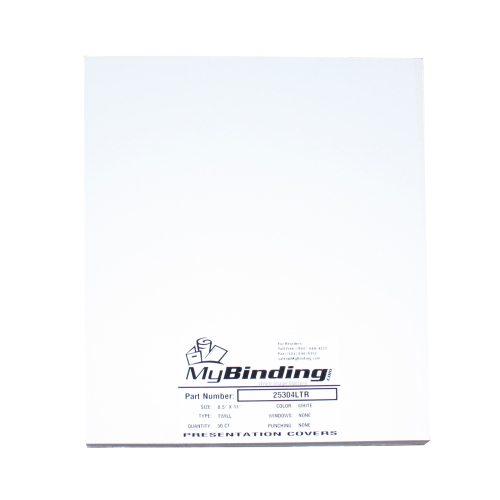 White Twill Binding Covers (MYTWWH) Image 1