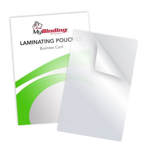 White 10mil Business Card Laminating Pouches - 100pk (LKLP10BUSINESSWH)