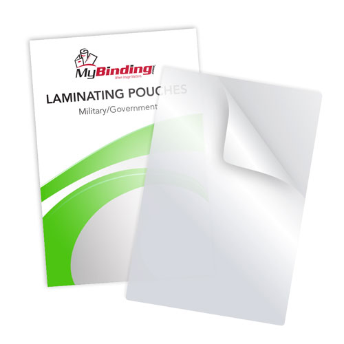 White 10mil Military Laminating Pouches - 100pk (LKLP10MILITARYWH), MyBinding brand Image 1