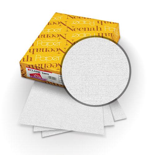"Neenah Paper Whitestone 80lb 8.5"" x 14"" Classic Linen Cover - 25pk (MYCLIN8.5X14WS) - $24.09 Image 1"