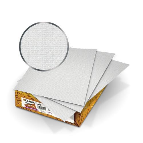 "Neenah Paper Whitestone Classic Laid 8.75"" x 11.25"" Covers With Windows - 50 Sets (MYCLC8.75X11.25WS80W) Image 1"