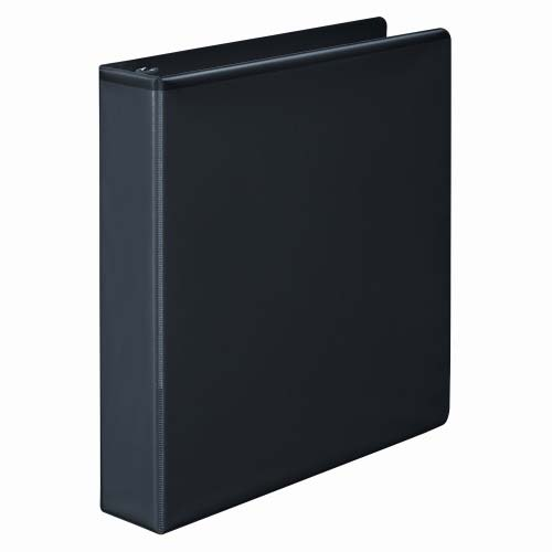 "Wilson Jones 1-1/2"" Black Basic D-Ring View Binders 12pk - W386-34BPP (W386-34BA) Image 1"