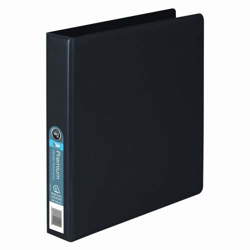 "Wilson Jones 1-1/2"" Black Premium Opaque D-Ring Binders 12pk - PP (W87603) Image 1"