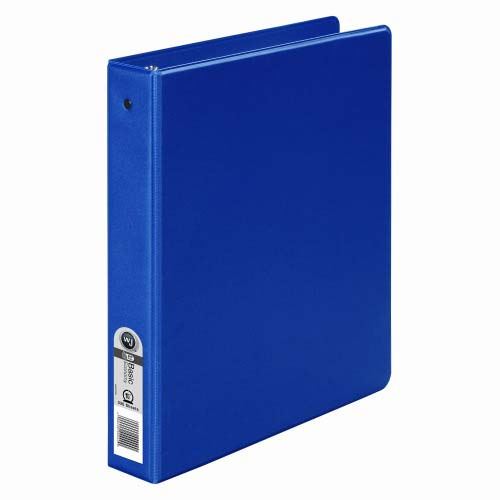 "Wilson Jones 1-1/2"" Dark Blue Basic Opaque Round Ring Binder 12pk - PP1 (W368-34NBL) Image 1"