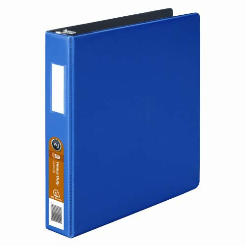 "Wilson Jones 1-1/2"" Dark Blue Heavy Duty Opaque D-Ring Binders 12pk - PP (W384-34BL) Image 1"