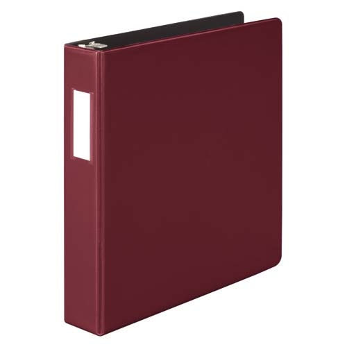 "Wilson Jones 1-1/2"" Dark Red Heavy Duty Opaque D-Ring Binders 12pk - PP (W384-34C) Image 1"