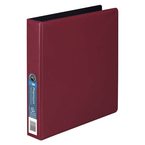 "Wilson Jones 1-1/2"" Red Premium Opaque D-Ring Binders 12pk - PP (W87605) Image 1"