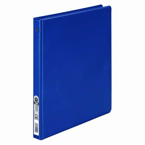 "Wilson Jones 1/2"" Blue Basic Opaque Round Ring Binders 12pk - PP (W368-13NBL), Wilson Jones brand Image 1"