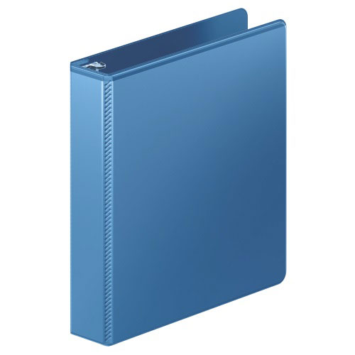 "Wilson Jones 1.5"" PC Blue Heavy Duty Round Ring View Binder 12pk (W363-34-7462PP) Image 1"