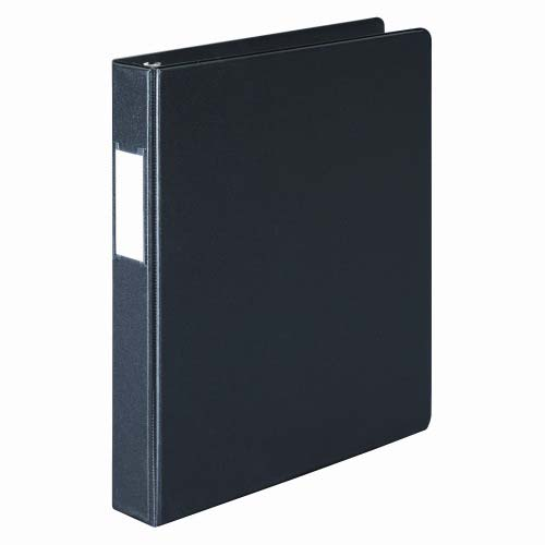 "Wilson Jones 1"" Black Basic D-Ring Binders With Label Holders 12pk - PP (W383-14NHB) Image 1"