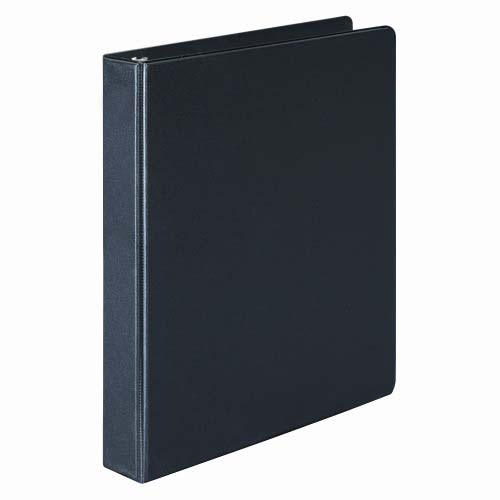 "Wilson Jones 1"" Black Basic Opaque D-Ring Binders 12pk - PP (W383-14B) Image 1"
