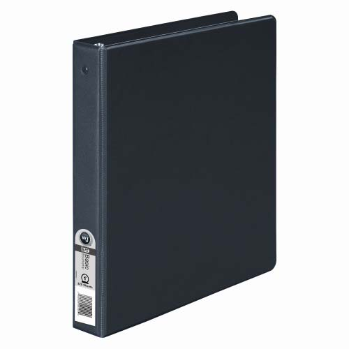 "Wilson Jones 1"" Black Basic Opaque Round Ring Binders 12pk - PP (W368-14NB) - $31.2 Image 1"