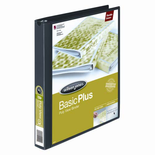 "Wilson Jones 1"" Black Non-Stick Flexible Binders 12pk (A7043341D) Image 1"