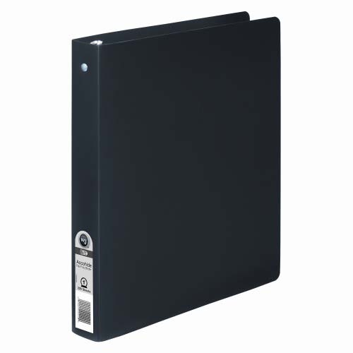 "Wilson Jones 1"" Black Semi-Rigid ACCOHIDE Ring Binder 1pk (A7039711A) - $4.01 Image 1"