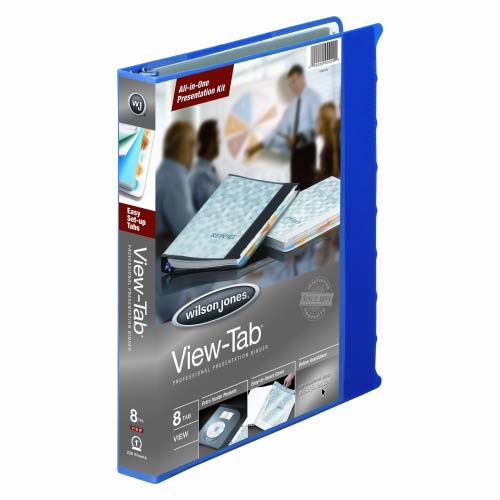 "Wilson Jones 1"" Blue 8 Tab View-Tab Binders - 12pk (W55096) Image 1"