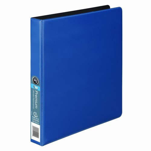 "Wilson Jones 1"" Blue Premium Opaque D-Ring Binders 12pk - PP (W87601) Image 1"