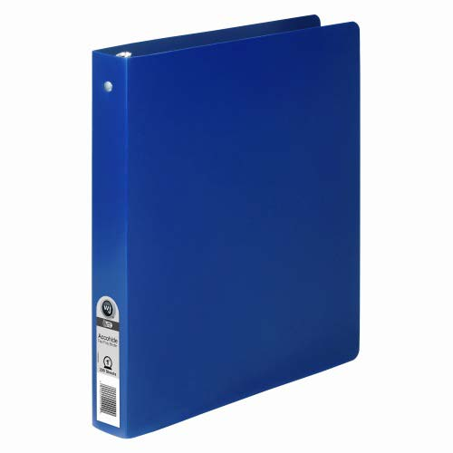 "Wilson Jones 1"" Blue Semi-Rigid ACCOHIDE Ring Binder 1pk (A7039713A) - $4.01 Image 1"