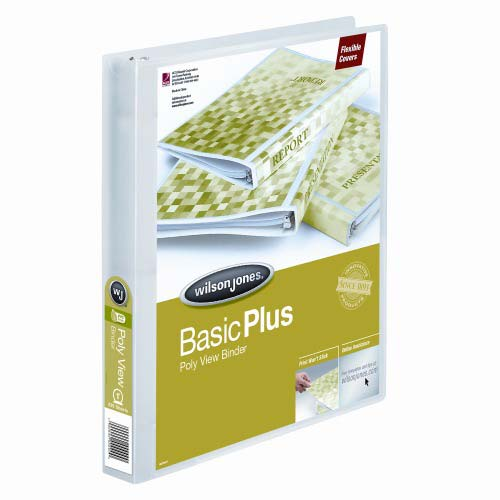"Wilson Jones 1"" Clear Non-Stick Flexible Binders 12pk (A7043337D) Image 1"