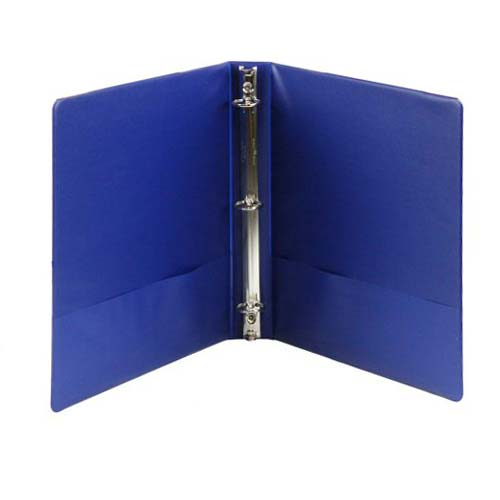 Dark Blue Basic Opaque Round Ring Binders Image 1