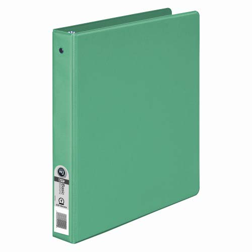 "Wilson Jones 1"" Green Basic Opaque Round Ring Binders 12pk - PP (W368-14NG), Wilson Jones brand Image 1"