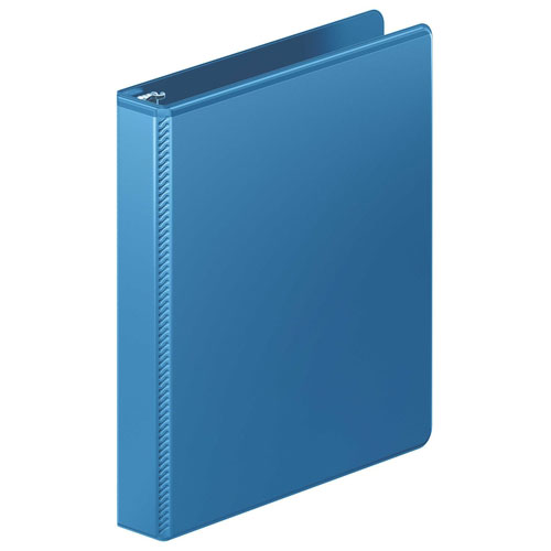 "Wilson Jones 1"" PC Blue Heavy Duty Round Ring View Binder 12pk (W363-14-7462PP) Image 1"