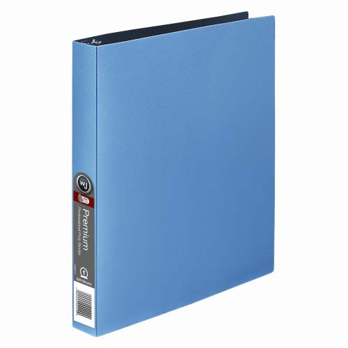 "Wilson Jones 1"" Premium Blue Opaque Metallic Poly Binders 12pk (W88206) Image 1"