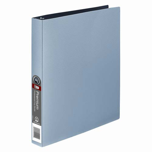 "Wilson Jones 1"" Premium Silver Opaque Metallic Poly Binders 12pk (W88204)"